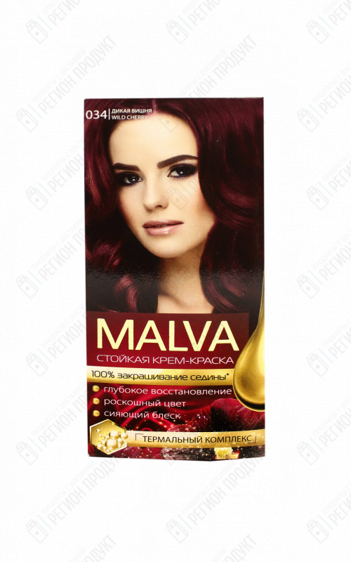 34 Дикая вишня, NЕW MALVA HAIR COLOR